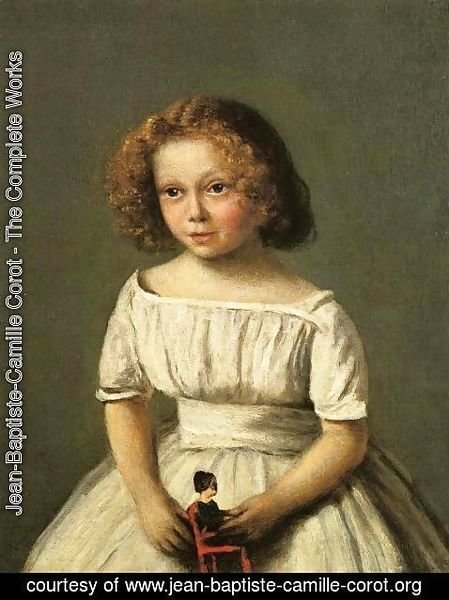 Jean-Baptiste-Camille Corot - Portrait of Madame Langeron, Four Years Old