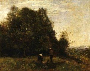 Two Figures - Working in the Fields