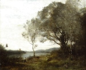 Jean-Baptiste-Camille Corot - The Walk around the Pond