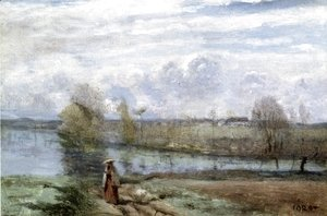 Jean-Baptiste-Camille Corot - Girl by the Water