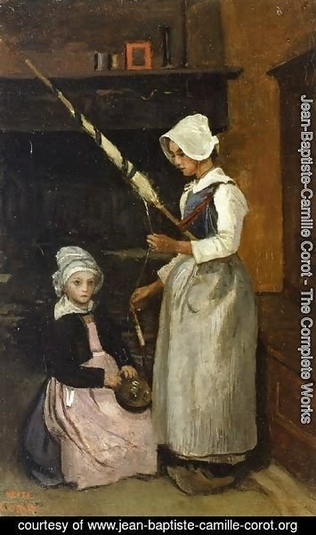 Jean-Baptiste-Camille Corot - Peasants from Mur