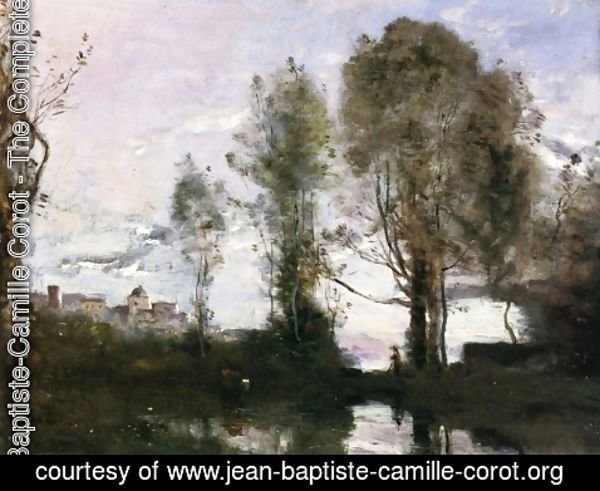 Jean-Baptiste-Camille Corot - Edge of a Lake