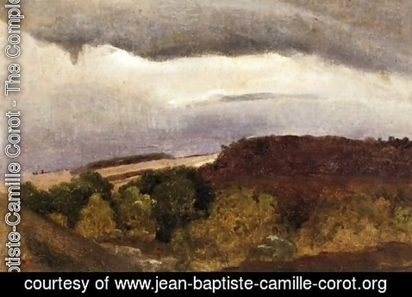 Jean-Baptiste-Camille Corot - Wooded Plateau, Fountainebleau