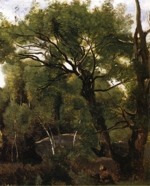 Jean-Baptiste-Camille Corot - An Artist Painting in the Forest of Fountainebleau