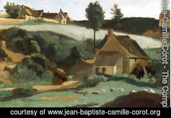 Jean-Baptiste-Camille Corot - Morvan, The Little Mill
