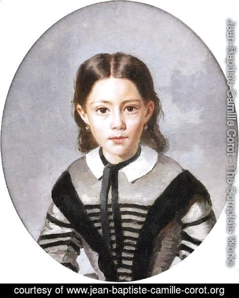 Jean-Baptiste-Camille Corot - Louise-Laure Baudot at Nine Years