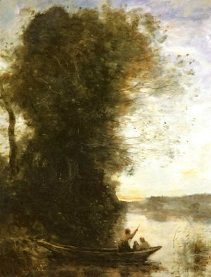 Jean-Baptiste-Camille Corot - Landscape with a Lake