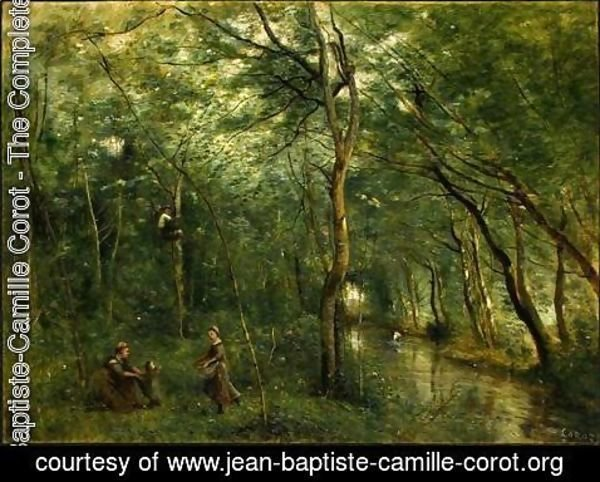 Jean-Baptiste-Camille Corot - The Eel Gatherers