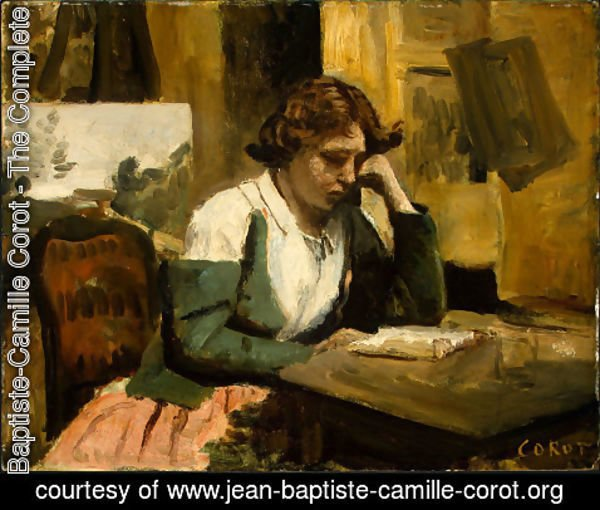 Jean-Baptiste-Camille Corot - Young Girl Reading