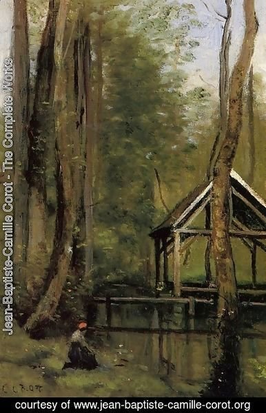 Jean-Baptiste-Camille Corot - Fishing Shed at Mathois near Gournay-en-Bray