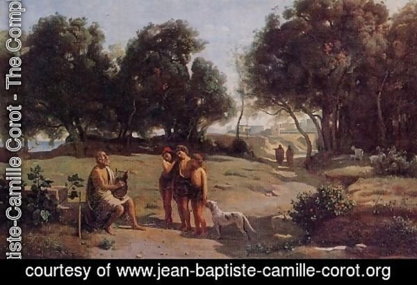 Jean-Baptiste-Camille Corot - Homer and the Shepherds