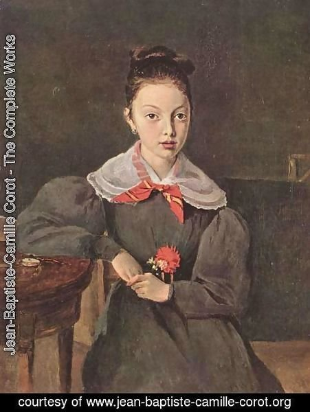 Jean-Baptiste-Camille Corot - Portrait of Octavie Sennegon, the artist's niece (later Madame Chamouillet)