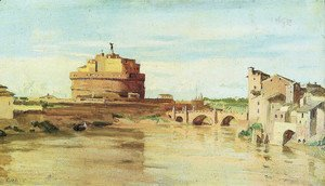 Jean-Baptiste-Camille Corot - Saint Angelo and Tíber Castle