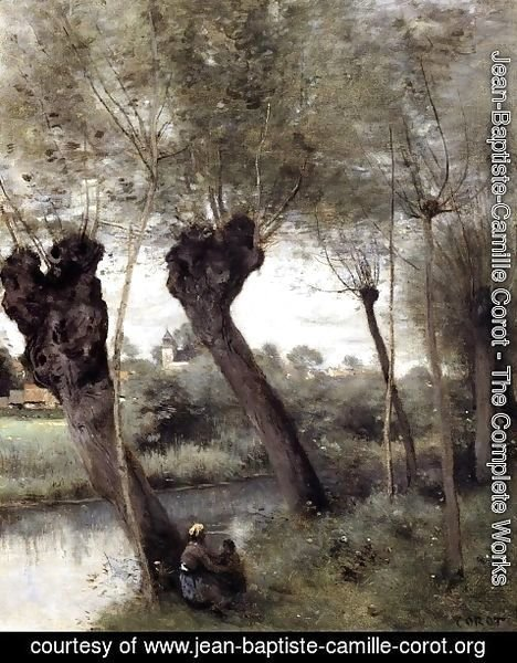 Jean-Baptiste-Camille Corot - Saint-Nicholas-les-Arras, Willows on the Banks of the Scarpe