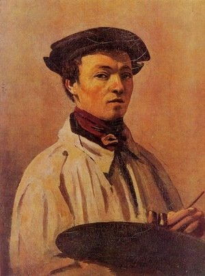 Jean-Baptiste-Camille Corot - Self Portrait with Palette