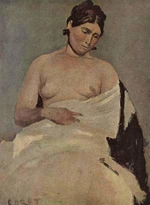 Jean-Baptiste-Camille Corot - Seated Woman with chest