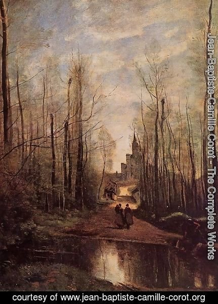 Jean-Baptiste-Camille Corot - The Church of Marissel