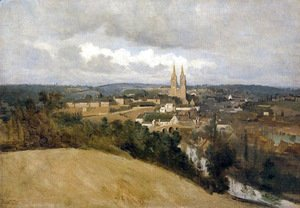 Jean-Baptiste-Camille Corot - View of Saint Lo with the River Vire in the Foreground