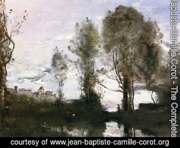 Jean-Baptiste-Camille Corot - Edge of a Lake (also known as Souvenir of Italy)