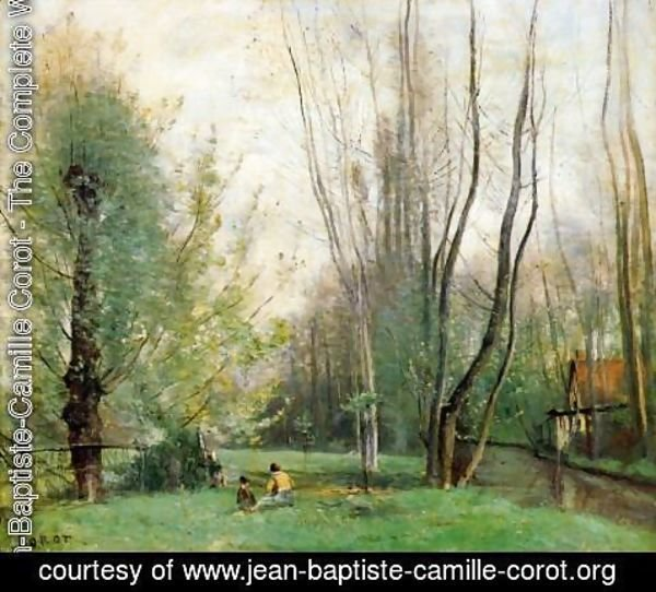 Jean-Baptiste-Camille Corot - Morning at Beauvais