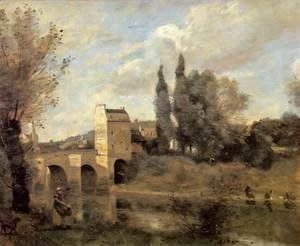 Jean-Baptiste-Camille Corot - The Bridge at Mantes 2