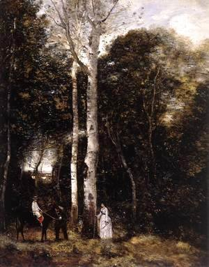 Jean-Baptiste-Camille Corot - Promenade in the Parc des Lions at Port-Marly