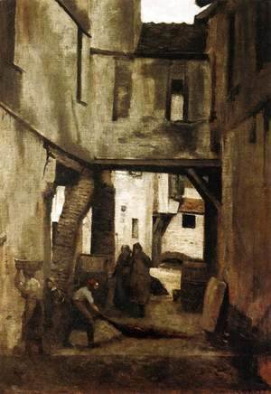 Jean-Baptiste-Camille Corot - The Tanneries of Mantes