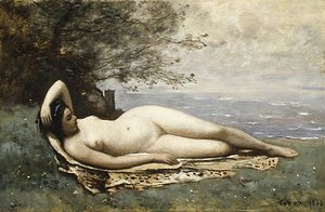 Jean-Baptiste-Camille Corot - Bacchante by the Sea 1865
