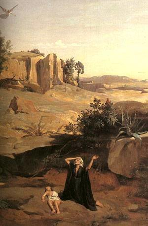 Jean-Baptiste-Camille Corot - Hagar In The Wilderness Detail 1835