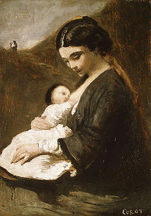 Jean-Baptiste-Camille Corot - Mother and Child