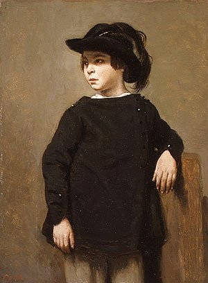 Jean-Baptiste-Camille Corot - Portrait of a Child ca 1835