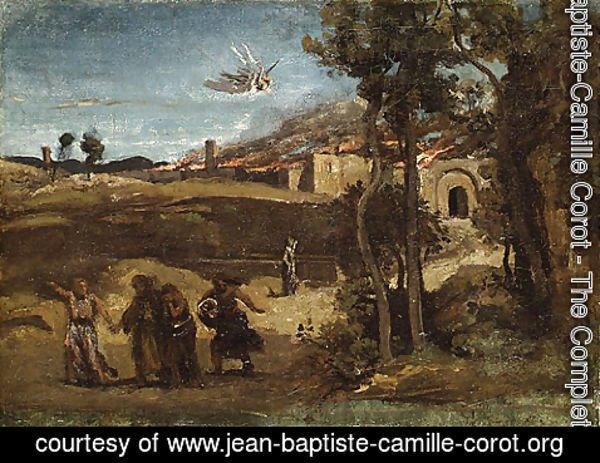 Jean-Baptiste-Camille Corot - Study for The Destruction of Sodom 1844