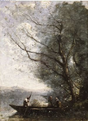 Jean-Baptiste-Camille Corot - The Ferryman ca 1865