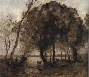 Jean-Baptiste-Camille Corot - The Lake 1861