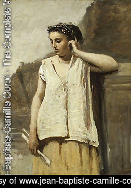 Jean-Baptiste-Camille Corot - The Muse History ca 1865