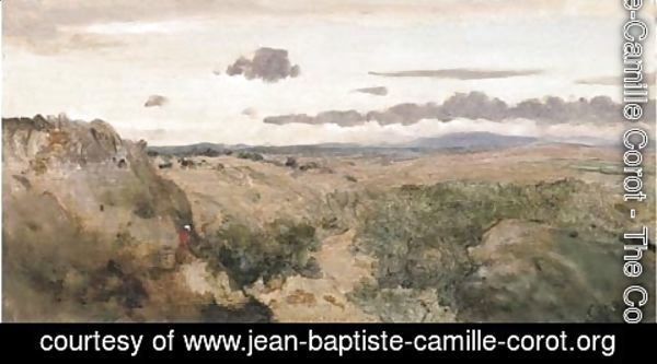 Jean-Baptiste-Camille Corot - Paysage montagneux