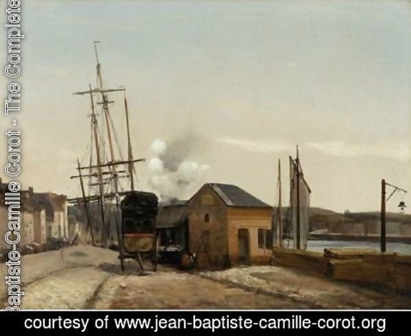 Jean-Baptiste-Camille Corot - The Port Of Rouen