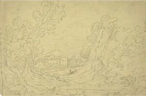 Landscape With Farmhouse And Figures