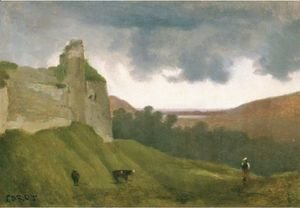 Jean-Baptiste-Camille Corot - Arques, Ruines Du Chateau