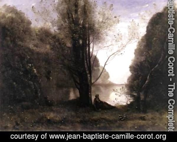 Jean-Baptiste-Camille Corot - The Solitude. Recollection of Vigen, Limousin