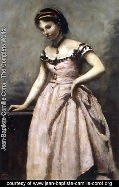 Jean-Baptiste-Camille Corot - Young Woman in Pink Dress