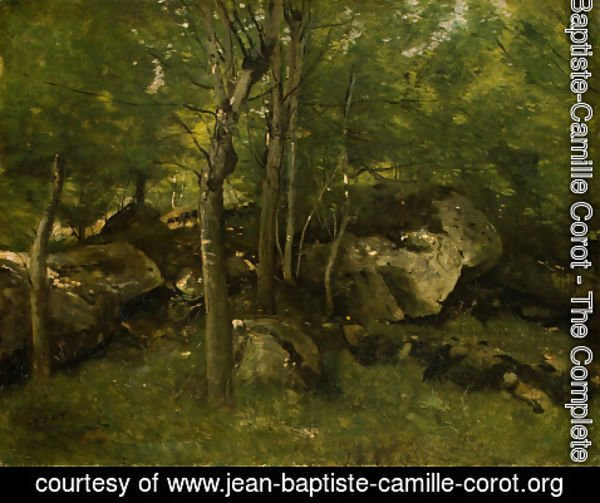 Jean-Baptiste-Camille Corot - In the Forest of Fontainebleau