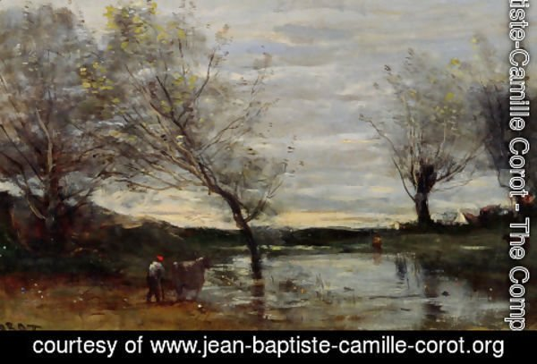 Jean-Baptiste-Camille Corot - Marshy Pastures