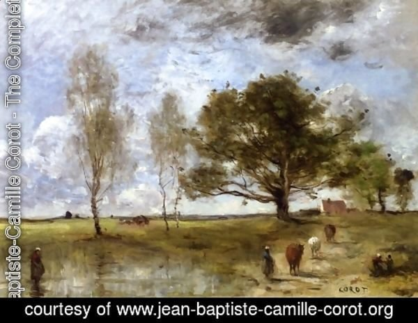 Jean-Baptiste-Camille Corot - The Cow Path
