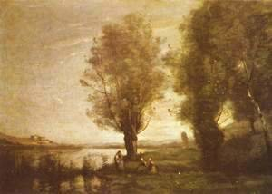 Jean-Baptiste-Camille Corot - Rest in the Water Meadows