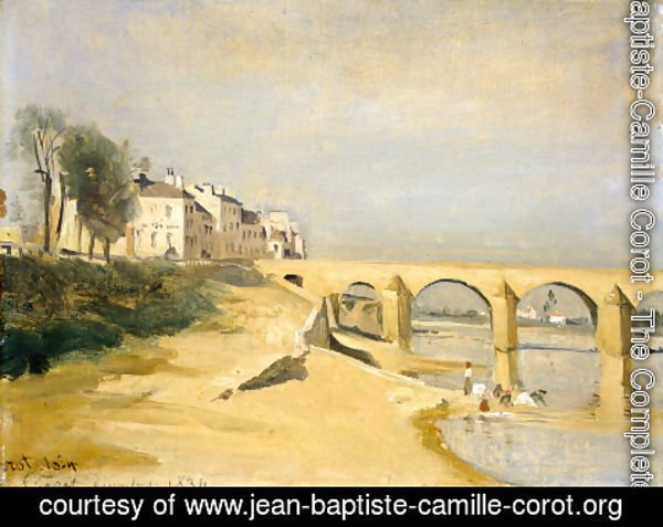 Jean-Baptiste-Camille Corot - Bridge on the Saone River at Macon