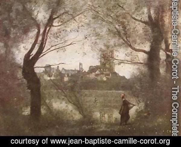 Jean-Baptiste-Camille Corot - Mantes Cathedral