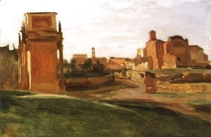 Jean-Baptiste-Camille Corot - The Arch of Constantine and the Forum, Rome