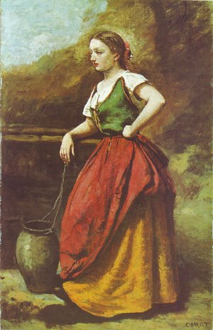 Jean-Baptiste-Camille Corot - Young Woman at the Well