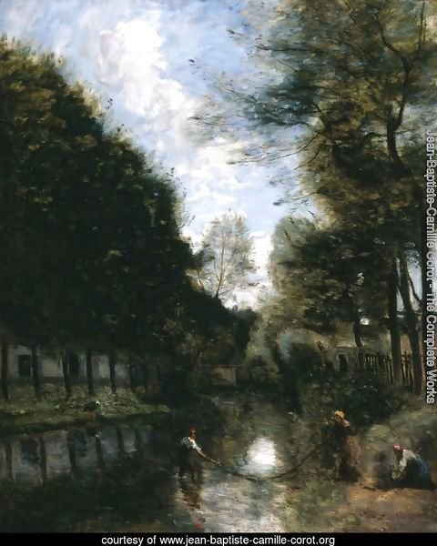 Gisors, River Bordered by Trees